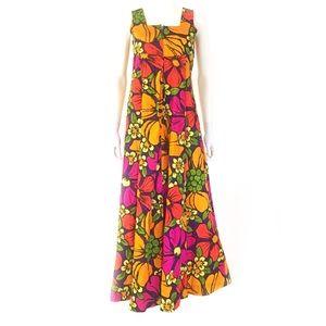 True Vintage 1970s/80s Hawaiian floral dress